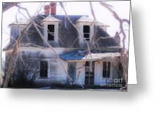 Halloween House Greeting Card by Jerilyn Davis