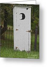 Halloween Outhouse Greeting Card by Marilyn West