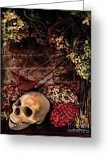 Halloween Still Life Greeting Card by Joan  Minchak