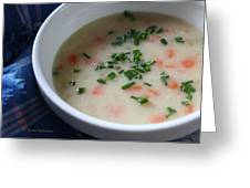 Ham And Potato Soup Greeting Card by Anne Babineau