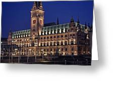 Hamburg city hall Greeting Card by Benjamin Matthijs