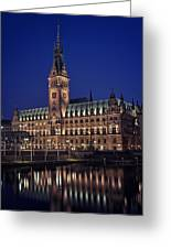 Hamburg City Hall Greeting Card by Benjamin Matthijs