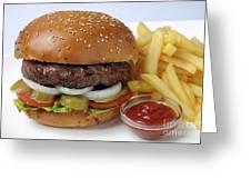 Hamburger  Greeting Card by Ilan Amihai