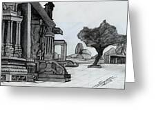 Hampi Stone Structure Greeting Card by Shashi Kumar