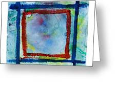 Hand Painted Square Frame Greeting Card by Igor Kislev