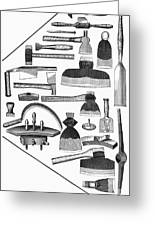 Hand Tools, 1876 Greeting Card by Granger