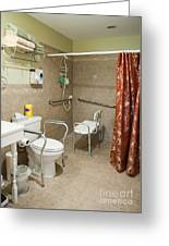 Handicapped-accessible Bathroom Greeting Card by Andersen Ross