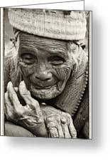 Hands Of Time Greeting Card by Skip Nall