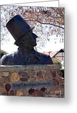 Hans Christian Andersen Statue In The Park In Solvang California Greeting Card by Susanne Van Hulst
