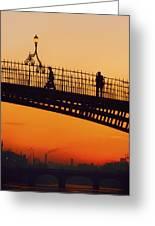 Hapenny Bridge, Dublin, Co Dublin Greeting Card by The Irish Image Collection