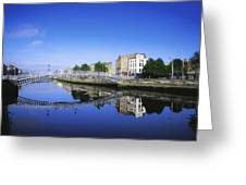 Hapenny Bridge, River Liffey, Dublin Greeting Card by The Irish Image Collection