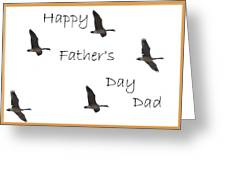 Happy Father's Day Dad Greeting Card by Dessie Durham