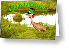 Happy New Year Card Greeting Card by Adele Moscaritolo