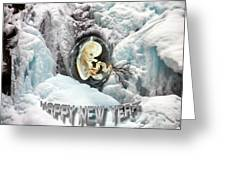 Happy New Year Greeting Card by Otto Rapp