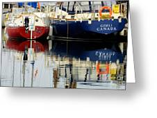 Harbor Reflections  Greeting Card by Bob Christopher