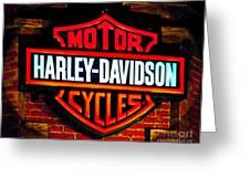Harley Downtown Vegas Greeting Card by Andy Smy