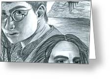 Harry Potter Greeting Card by Crystal Rosene