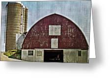 Harvest Barn Greeting Card by Kathy Jennings