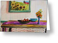 Harvest Table Greeting Card by John Williams