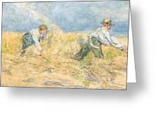 Harvester Greeting Card by LP Smythe