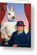 Harvey And Randall Greeting Card by James W Johnson
