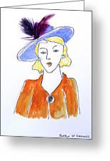 Hat Lady 13 Greeting Card by Bettye  Harwell