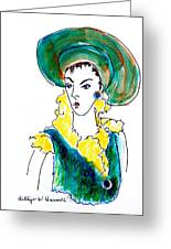 Hat Lady 16 Greeting Card by Bettye  Harwell