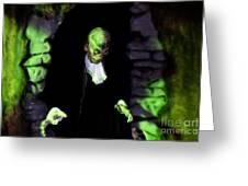 Haunted Butler Greeting Card by Darleen Stry