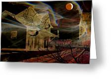 Haunted Evening Greeting Card by Shirley Sirois