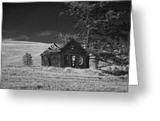 Haunted House Greeting Card by Anne Mott
