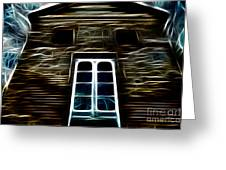 Haunted House Greeting Card by Cheryl Young