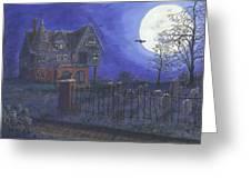 Haunted House Greeting Card by Lori  Theim-Busch
