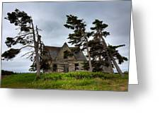 Haunted House Greeting Card by Matt Dobson