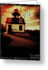 Haunted Lighthouse Greeting Card by Edward Fielding