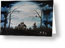 Haunted Mansion 2006 Greeting Card by Shawna Burkhart