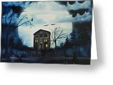 Haunted Mansion 2008 Greeting Card by Shawna Burkhart