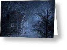 Haunted Place Greeting Card by Svetlana Sewell