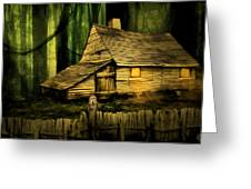 Haunted Shack Greeting Card by Lourry Legarde