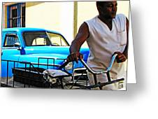 Havana Transportation Greeting Card by Kimberley Bennett