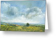 Hawk Over The Yar Valley Greeting Card by Alan Daysh