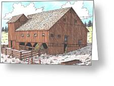 Hay Barn Greeting Card by Bill Friday
