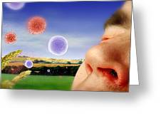Hay Fever Greeting Card by Tim Vernon, Lth Nhs Trust