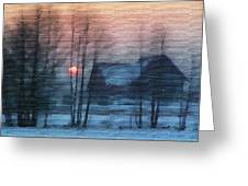 Hazy Winter Morning Greeting Card by Anthony Caruso