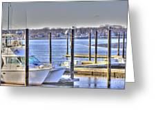 Hdr  Boat Waiting Wanting Yet Tied Greeting Card by Pictures HDR