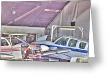 Hdr Planes Being Fixed Greeting Card by Pictures HDR