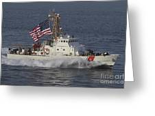 He U.s. Coast Guard Cutter Adak Greeting Card by Stocktrek Images