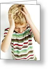 Head Lice Greeting Card by Ian Boddy