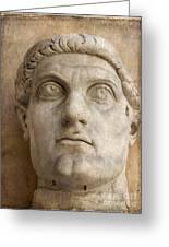 Head Of Emperor Constantine. Rome. Italy Greeting Card by Bernard Jaubert