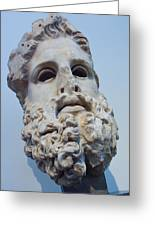 Head Of Zeus At The Acropolis Museum Greeting Card by Richard Nowitz