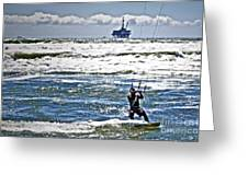 Heading Back Out Greeting Card by Gwyn Newcombe